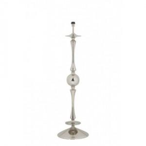 Lampenfuß Silber für Stehlampe, Stehleuchte verchromt, Höhe 140 cm