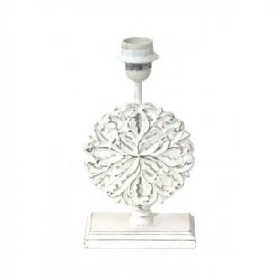 Lampenfuß für eine Tischleuchte, Lampenfuß weiß vintage, Höhe 27 cm