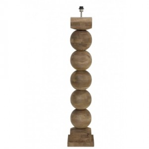 Lampenfuß Holz braun-grau, Stehlampe Holz, Stehleuchte Holz