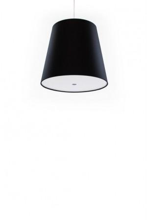 Pendelleuchte schwarz, moderne Pendellampe in sechs verschiedenen Farben, Ø 33 cm