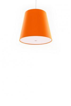 Pendelleuchte orange, moderne Pendellampe in sechs verschiedenen Farben, Ø 33 cm