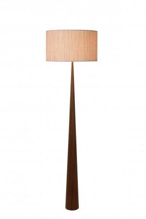 Stehleuchte / Stehlampe Holz dunkel, Höhe 177 cm