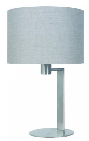 Tischlampe silber - grau modern Tischleuchte silber - grau