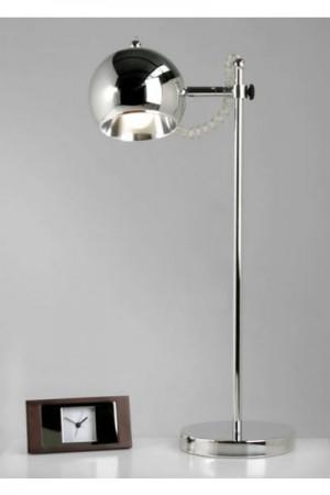 Tischleuchte aus Metall in chrom, modern