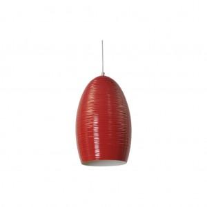 Moderne Hängeleuchte Lampenschirm aus Aluminium, Hängelampe Farbe rot, Durchmesser 30 cm