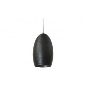 Moderne Hängeleuchte Lampenschirm aus Aluminium, Hängelampe Farbe schwarz, Durchmesser 30 cm