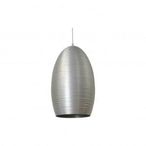 Moderne Hängeleuchte Lampenschirm aus Aluminium, Hängelampe Farbe silber, Durchmesser 30 cm