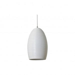 Moderne Hängeleuchte Lampenschirm aus Aluminium, Hängelampe Farbe weiß, Durchmesser 25 cm