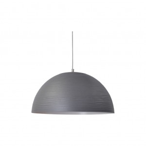 Moderne Hängeleuchte Lampenschirm aus Aluminium, Hängelampe Farbe grau, Durchmesser 45 cm