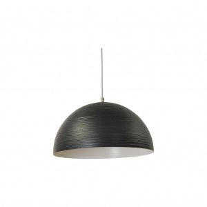 Moderne Hängeleuchte Lampenschirm aus Aluminium, Hängelampe Farbe schwarz, Durchmesser 45 cm