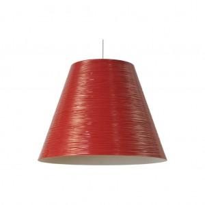 Moderne Hängeleuchte Lampenschirm aus Aluminium, Hängelampe Farbe rot, Durchmesser 40 cm