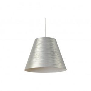 Moderne Hängeleuchte Lampenschirm aus Aluminium, Hängelampe Farbe silber, Durchmesser 40 cm