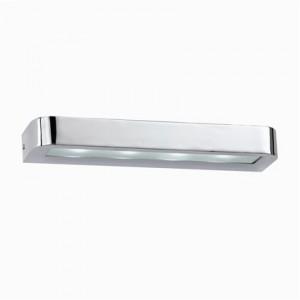 Wandleuchte Metall chrom Glas transparent LED