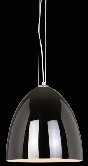 Moderne Pendelleuchte aus Glas weiß, Hängelampe Ø  34 cm