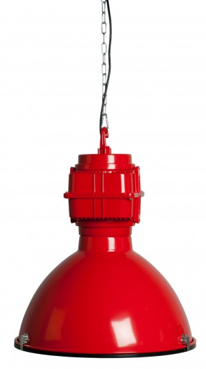 Pendelleuchte Fabrikart, Industriedesign Lampe, Farbe rot