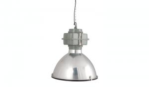 Pendelleuchte Fabrikart, Industriedesign Lampe, Farbe chrom
