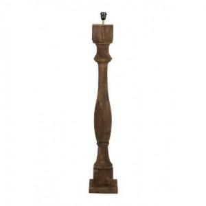 Lampenfuß braun für eine Stehlampe, Lampenfuß Stehleuchte braun aus Holz, Höhe 125 cm