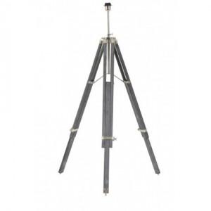 Lampenfuß grau für eine Stehlampe, Stehlampe grau-Chrome, Höhe 100-180 cm